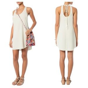 [A.L.C.] White Tasseled Tie Back Mini Shift Dress